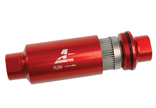 Aeromotive 100 Micron, -10 AN Red Fuel Filter