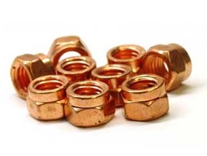 Copper Clad Exhaust Lock Nut 10mm X 1.50 Pitch