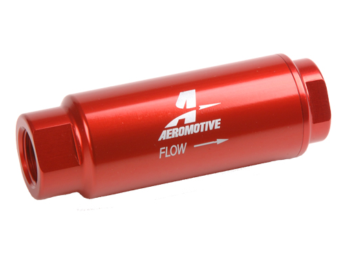"Aeromotive 40 Micron, 3/8"" SS Series Fuel Filter"