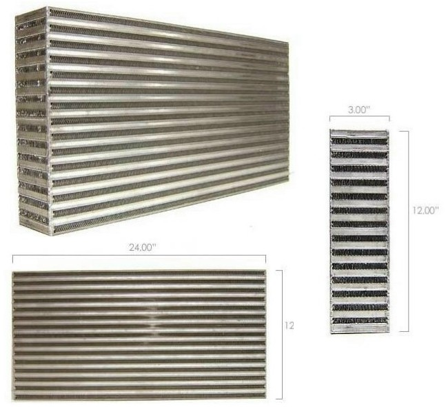 "Garrett GT Intercooler Core 24"" x 12"" x 3"""