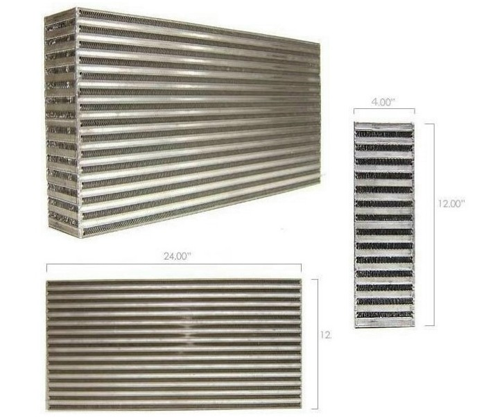 "Garrett GT Intercooler Core 24"" x 12"" x 4"""