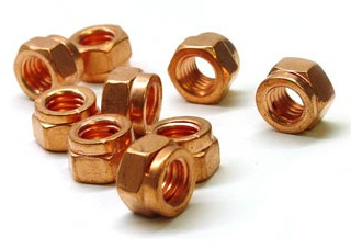 Copper Clad Exhaust Lock Nut 8mm X 1.25 Pitch