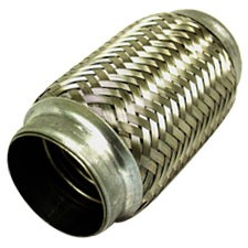 "2.00"" Braided Exhaust Flex Joint 4.00"" Long Stainless Steel"