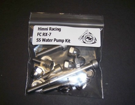 Himni SS Water Pump & Housing Nut & Bolt Kit, 86-91 Mazda RX-7