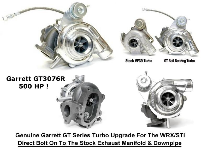 Garrett GT3076R Turbo Upgrade Kit - WRX / STi [Garrett-SUB