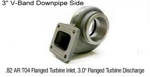 "T4 3.00"" V-band Turbine Housing .82 A/R - GT3082R"