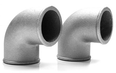 "3.00"" 90 Degree Pipe - Brushed Aluminum"