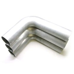 "2.75"" 90 Degree Pipe - Brushed Aluminum"