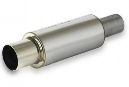 Apexi N1 Universal Muffler TURBO - Polished Silver 94mm