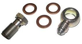 12mm To -4 AN Banjo Fitting Kit - Fitting, Bolt, Gaskets