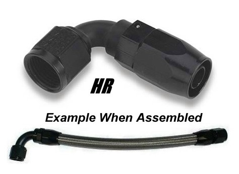 -10 AN 90 Degree Hose End - Black Anodized