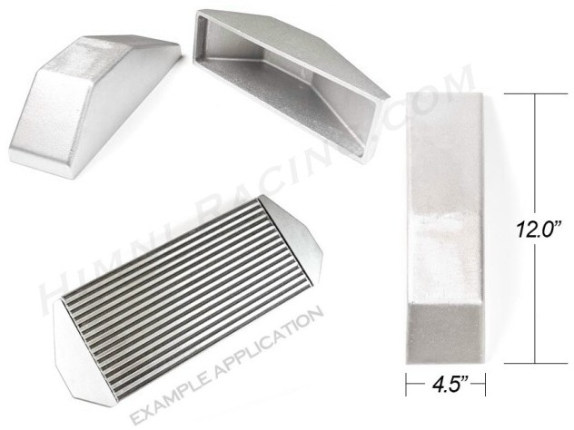 "Intercooler End Tank Blank - 12"" Tall x 4.5"" Wide"