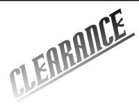 BARGAINS/CLEARANCE: NEW & USED