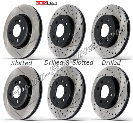 StopTech Brake Rotors Rear 5 LUG VENTED Mazda FC RX7