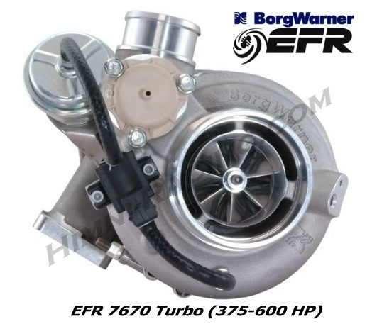 Borg Warner EFR 7670 Turbo (375-600 HP)