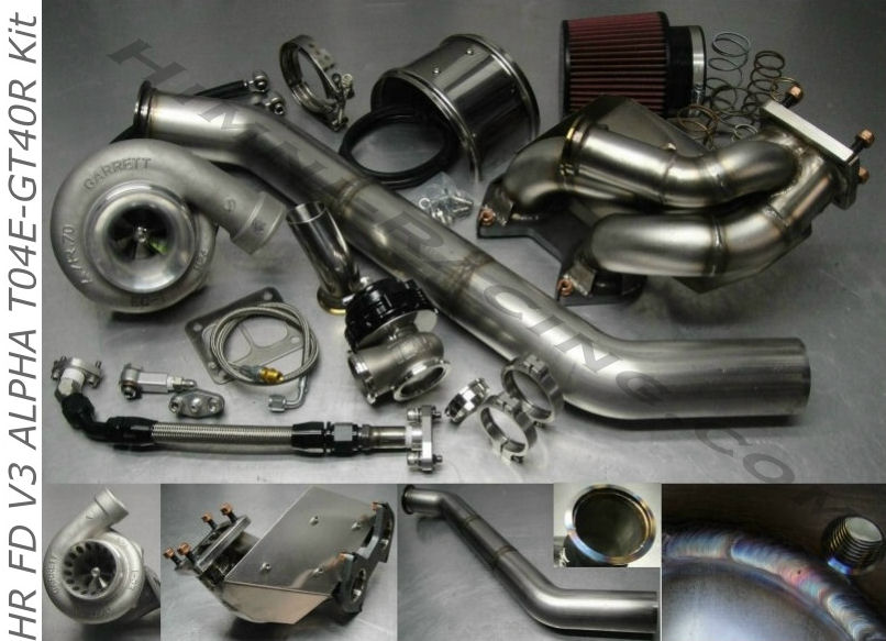 #1 FD V3 ALPHA 93-95 Mazda RX-7 T04S Single Turbo Kit FD3S