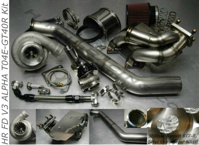 #5 FD V3 ALPHA 93-95 Mazda RX-7 GTX3582R Single Turbo Kit FD3S