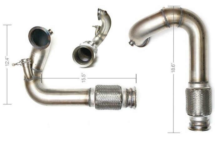 "3.00"" V-Band FWD DownPipe w/ Flex - Stainless Steel"