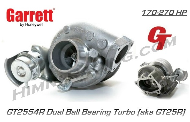Garrett GT25R Ball Bearing Turbo - GT2554R (270 HP)