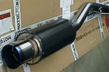 HKS Carbon Ti Exhaust System - WRX 02+