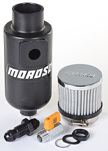 Moroso Polyethylene Oil Breather Tank 1qt. -10 AN O-ring Inlet