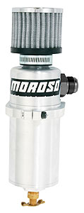 Morosobillet Billet Aluminum Oil Breather Tank -12 AN Male, 1qt.