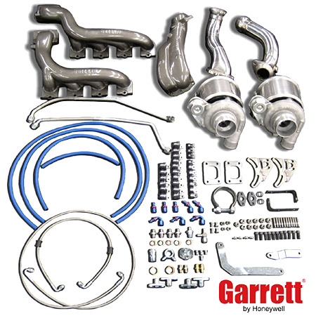 Garrett Ford Mustang GT Twin Turbo Kit - GT28RS 600 HP [MUS-001