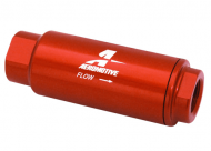 "Aeromotive SS Series 100 Micron 3/8"" NPT Red Inline Fuel Filter"