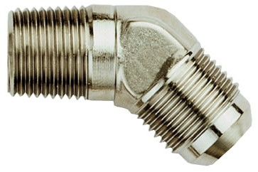 "-10 AN To 1/2"" NPT 45 Degree Oil Drain Fitting"
