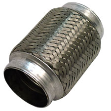 "1.75"" Braided Exhaust Flex Joint 4.00"" Long Stainless Steel"