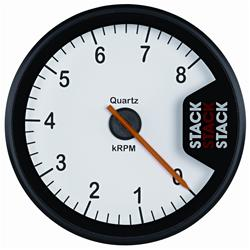 Stack Gauges Clubman Tachometer - White Dial Face ST200W