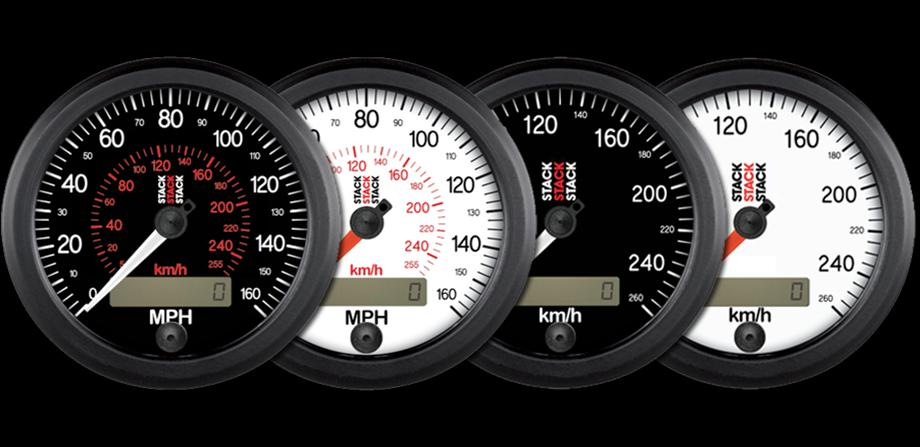 Stack Gauges Electronic Speedometer - MPH & KM/H