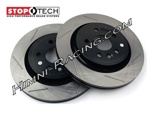StopTech Brake Rotors Rear Slotted 4 LUG 86-88 Mazda FC RX7