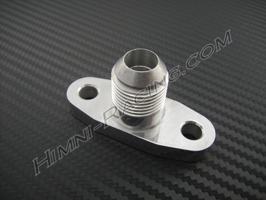 T/S/MID GT Series Turbo Oil Return Flange w/ -10 AN Fitting
