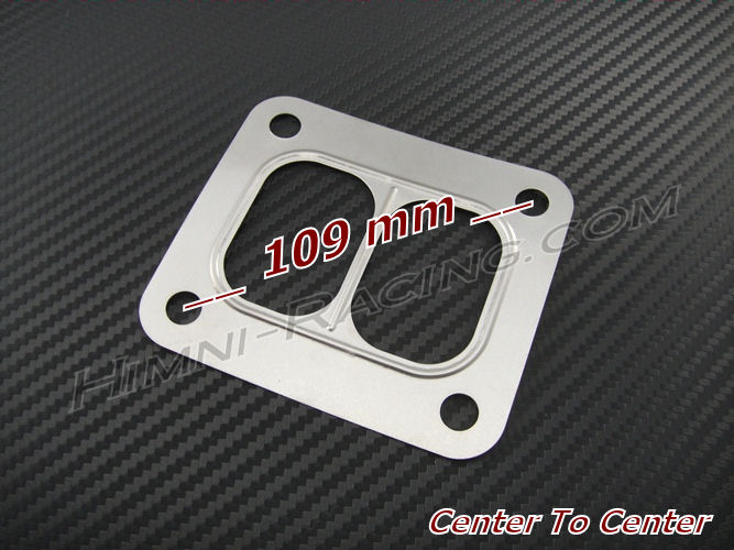 T4 / T04 Turbo Turbine Inlet Manifold Gasket - SS Divided