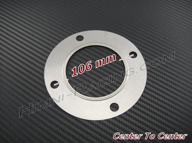 4 Bolt T4 On Center Turbo Downpipe Discharge Gasket: 3.00""