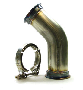 "3.00"" 45 Degree V-band Pipe - Stainless Steel"