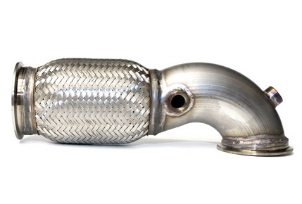 "2.5"" 90 Degree Low Profile V-band DownPipe - Stainless Steel"
