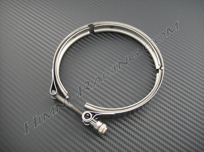 "5.00"" V-Band Turbo Exhaust Clamp - Stainless Steel"