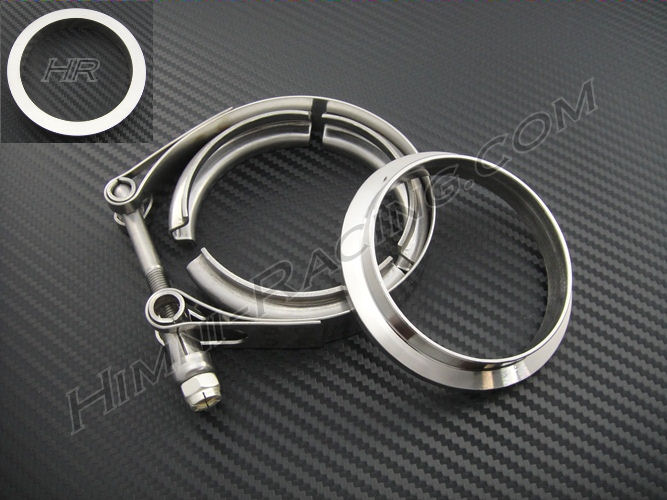 "3"" V-Band Turbo Exhaust Flange & Clamp Set - 1 & 1- Stainless"